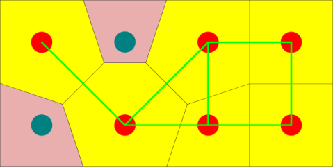 A simplified generalized Voronoi diagram