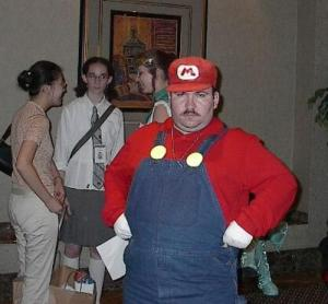 Mario cosplay, taken from http://www.doodlingcomic.com/lang/en/blog/top-5-mario-cosplay/attachment/02-mario_cosplay